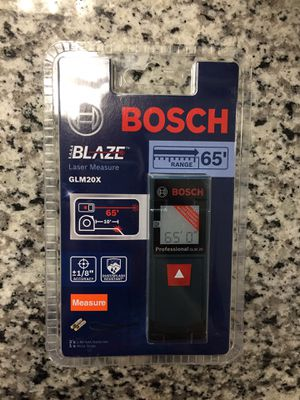 BOSCH BLAZE GLM 20 X 65ft LASER MEASURE - New SEALED #16188-6 for Sale in Boston, MA