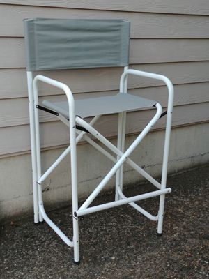 Aluminum Frame Grey Canvas Folding Director's Chair for Sale in Beaverton, OR