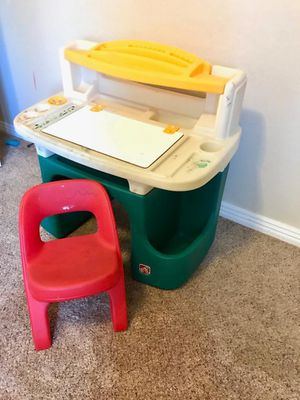 Kids desk with red chair for Sale in Phoenix, AZ