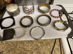 Lot of costume jewelry - bracelets / price for all for Sale in Rancho Cucamonga, CA