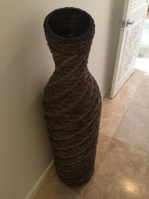 Tall wooden vase for Sale in Calabasas, CA