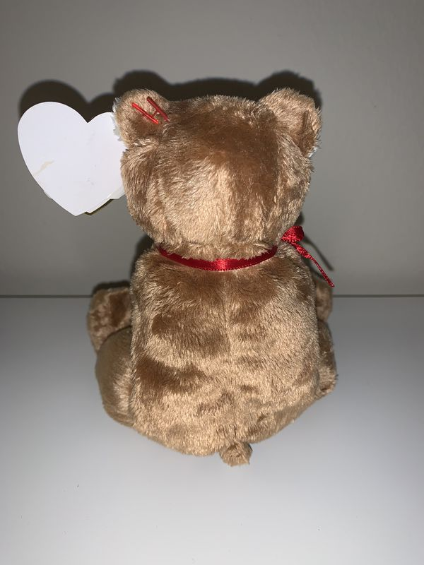 Ty Beanie Babies Teddy Bear With Rose