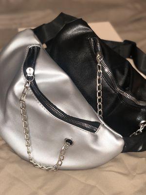 Women's Hobo Chain Waist Belt Bag - Silver for Sale in Philadelphia, PA