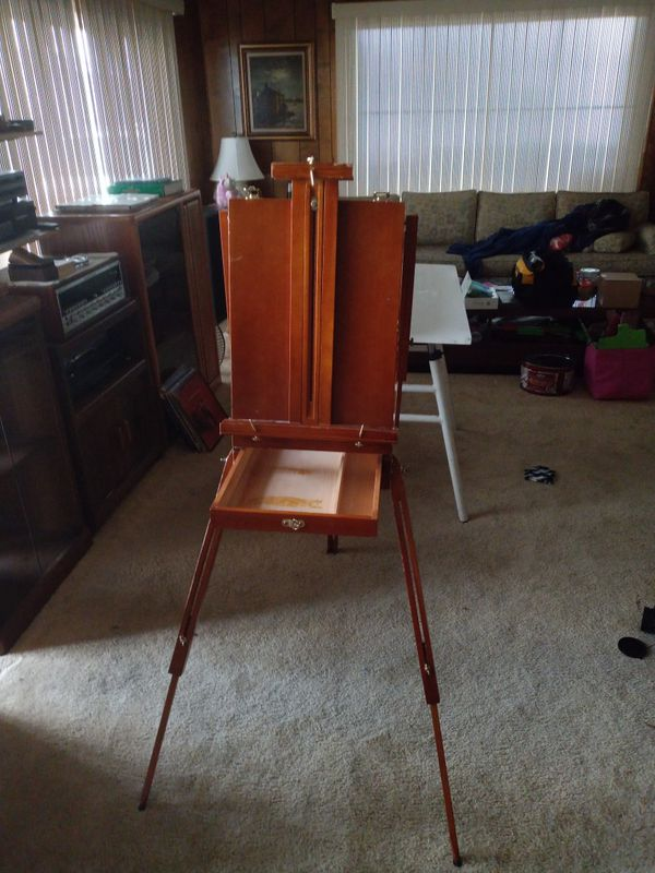 $20 OBO wood and brass *fold-up* portable *art* easel