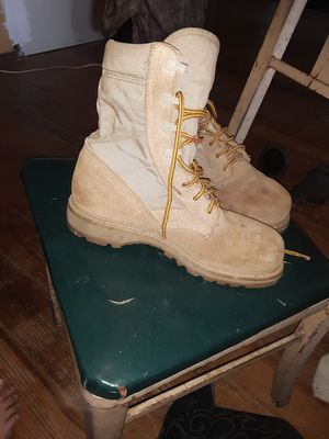 Tan steel toe work boots men's size 9 for Sale in Livonia, LA