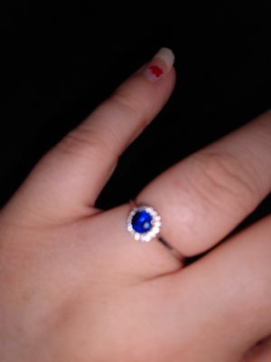 Sapphire Sterling silver rimg for Sale in Indianapolis, IN