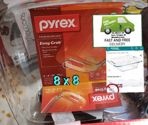 Pyrex 8x8 Dish with Glass Handles for Sale in Henderson, NV