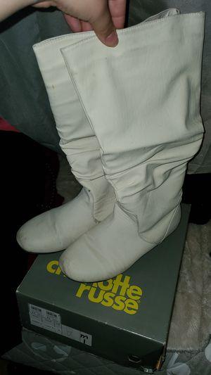 Cream boots sz8 women for Sale in West McLean, VA