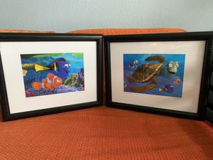 Two Disney's finding Nemo framed posters for Sale in Miami, FL