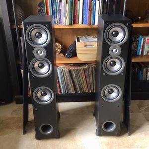 (2) Polk Audio 200 Watt 8-Ohm Tower Speakers for Sale in Miami, FL