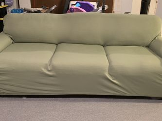 Bassett Furniture Couch With Stretchy Cover for Sale in Baltimore,  MD