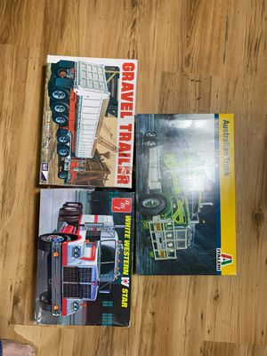 Vintage Model Truck Kits 1:24 scale and 1:25 scale for Sale in Phoenix, AZ