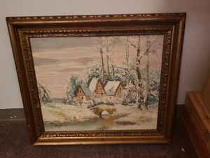 VINTAGE OIL PAINTING VON THONGEN for Sale in Roselle, IL