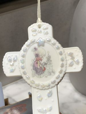 Precious moments porcelain ornaments cross for Sale in Dallas, TX
