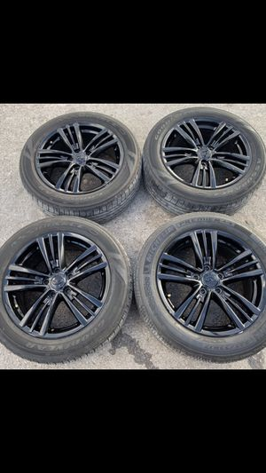 Infiniti Black Factory Rims and Tires ! 5 Lug Stocks Wheels will fit Nissan Altima and Maxima ! Take offs off 18s takeoffs pull 20s pulloffs stock st for Sale in Dallas, TX