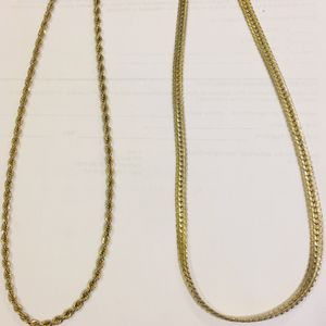 """20"""" GOLD PLATED ROPE & SNAKE CHAINS CHEAP for Sale in Newton, MA"""