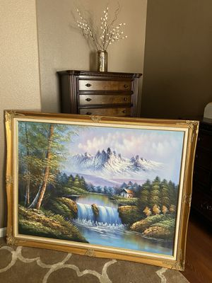 Antique painting with gold border perfect condition for Sale in Milwaukie, OR
