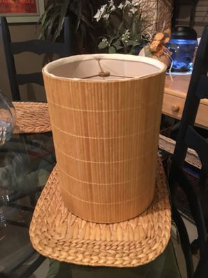 1 Bamboo Lamp Shade and 1 Cloth Shade for Sale in Spring Lake, NC