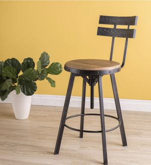 39 in. Black Brushed Silver Finished Bar Stool. Awesome rough metallic looks for Sale in Dallas, TX