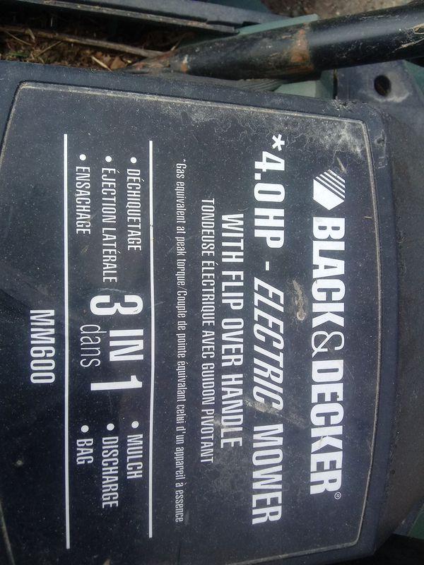 Electric Lawn Mower Black N Decker For Sale In Kansas City