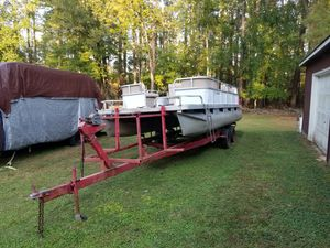 Good Pontoon boat. Great motor for Sale in Virginia Beach, VA