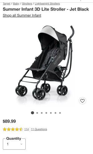 Summer Infant 3D Lite Stroller - Jet Black for Sale in Fairfax, VA