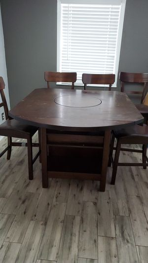 Solid Heavy Maple wood Dining Table / Chairs for Sale in Tampa, FL