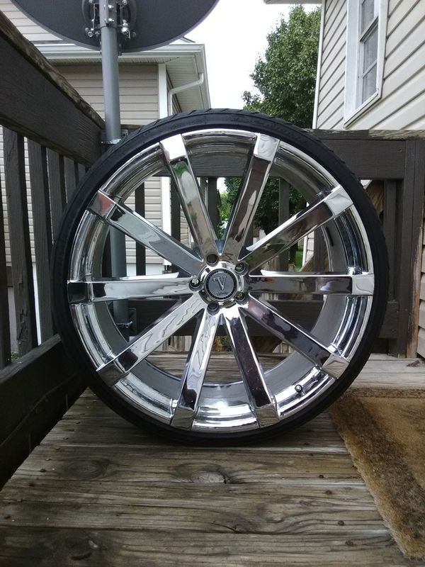 Rims and tires 24 inch 245/30/24 bolt pattern 5x115