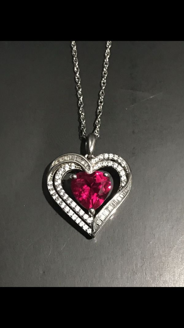 Heart Pendant and Necklace