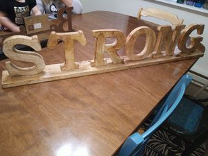 """STRONG"" solid wood decor for Sale in Beaverton, OR"