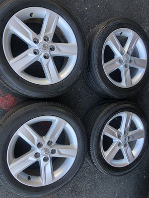 Rims tires 17 5x114.3 fit Toyota Camry for Sale in Santa Ana, CA