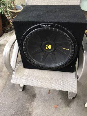 """Kicker 15"""" comp D sub with custom box bumps for Sale in Stockton, CA"""