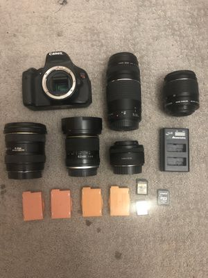 Canon T3i complete camera bundle for Sale in Concord, CA