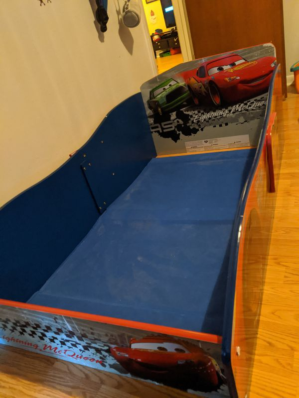Toddler size Cars movie kids bed