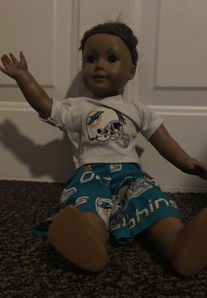 A American girl doll and mami Dolphins pjs for Sale in Fort Meade, FL