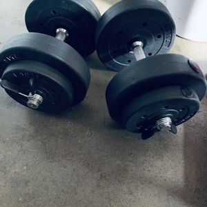 20 Lb Adjustable Dumbbell And Bicep Curl Bar for Sale in Pacifica, CA
