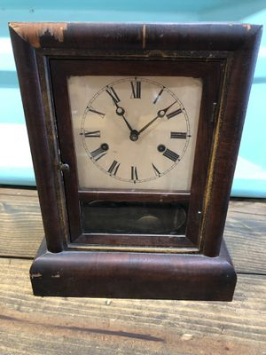 Antique Clock with key - winds for Sale in West Palm Beach, FL