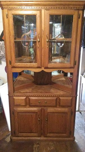Corner Cabinet Shelf with Glass Doors for Sale in Coats, NC