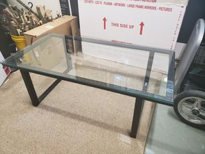 Crate and Barrel Glass Table for Sale in Horseheads, NY