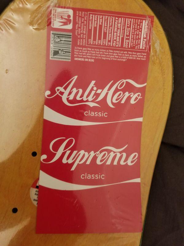 6ca158e8 Supreme X antihero skateboard deck for Sale in San Antonio, TX - OfferUp