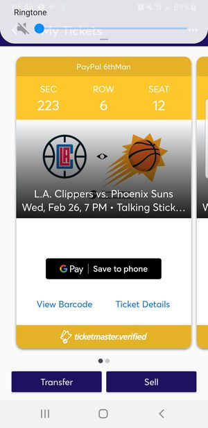 Suns vs LA Clippers w/parking for Sale in Phoenix, AZ