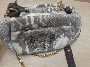 New With Tag Juicy Couture Snake Skin Velvet Crossbody Purse Gold Chain Strap Small Rare/Auth for Sale in Philadelphia, PA