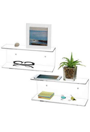 2 Tier Clear Acrylic Wall ( Shelves, Set of 2 ) for Sale in Perris, CA