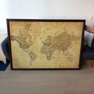 Framed Large World Map - National Geographic for Sale in Arlington, VA