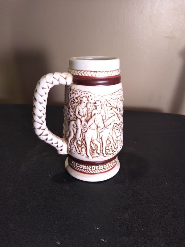 Cowboy Stein ceramic 11 inches