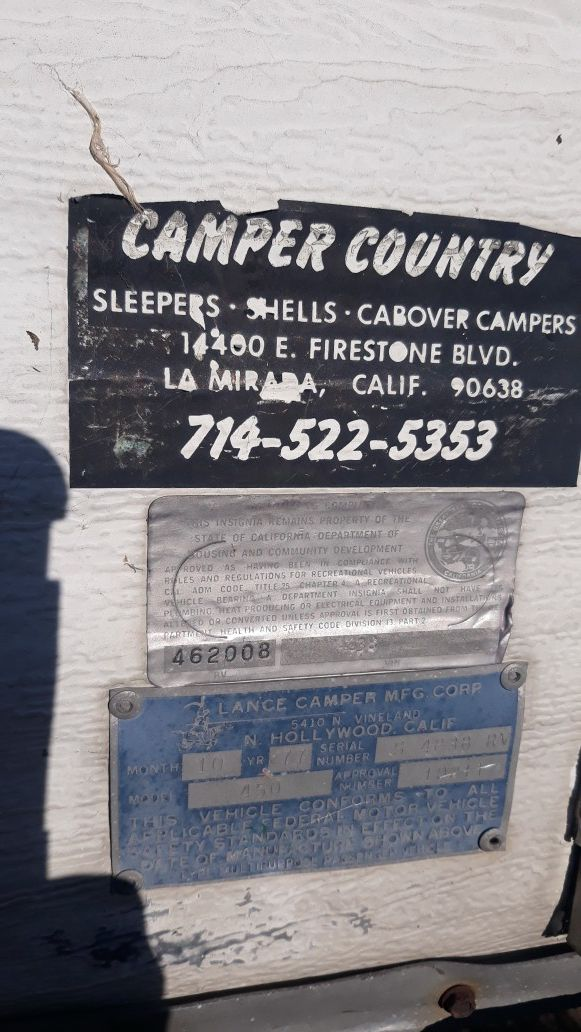 Camper only for sale $300 you pick it up john {contact info removed}