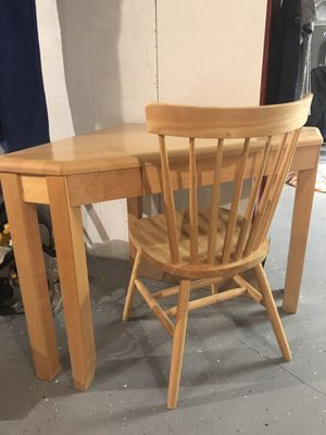 Solid Wood Desk and Chair for Sale in Sanatoga, PA
