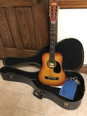 Global Acoustic Guitar with case for Sale in Springfield, VA