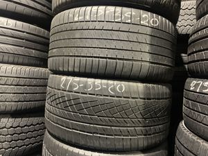 For sale 275/35/20 Michelin and Continental tires with 60% left cheap for Sale in Hialeah, FL