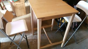 IKEA breakfast high table and two high chairs for Sale in Foster City, CA